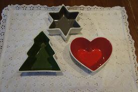 Sagaform Scandanavian design christmas decorative bowls