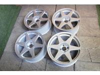 "Genuine Engels 18"" Alloy wheels 4x108 fits FORD Escort Cosworth Fiesta Rondell Alloys"