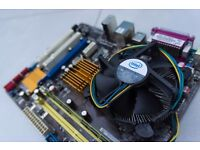 ASUS Motherboard, INTEL Processor & RAM Bundle - includes cooler and backplate