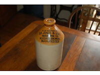 Stoneware bottle S F Jones Manchester approx 4 inches height, no handle