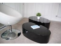 Dwell nest of tables in piano black