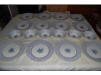 Royal Victoria 'Rose Bouquet' China, 6 Plates, 6 Bowls, all in Excellent Condition