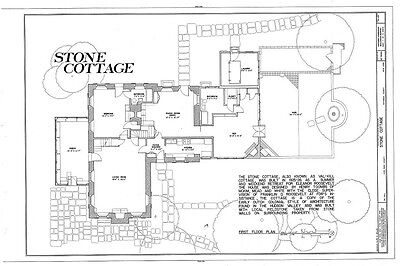 Cottage House Floorplans - House floor plans - Roosevelt's colonial country cottage, stone walls, sunroom