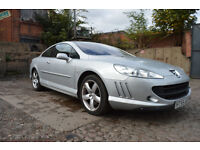 PEUGEOT 407 COUPE 3.0 V6 PETROL, 2006 YEAR, 10 MONTHS MOT, LOW ROAD TAX £25.00 A MONTH