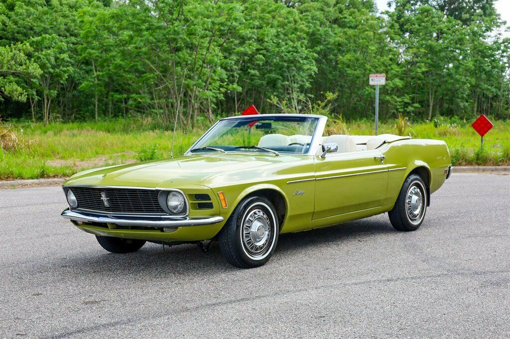 1970 Ford Mustang Convertible  Green