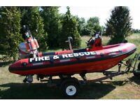 Ribcraft 4.2m RIB ex-Fire & Rescue Boat