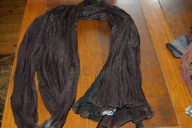 Morgan long black scarf.