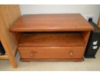 wooden tv unit with storage underneath. This furniture can be used in other ways, e.g seat, storage