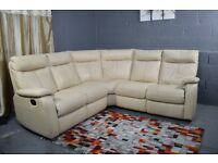 Ex furniture village real leather corner sofa RECLINER