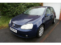 VOLKSWAGEN GOLF 2006 TDI GT 2,0 140 PH 6 SPEED 117200 MILES