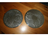 Pair of silver plated placemats