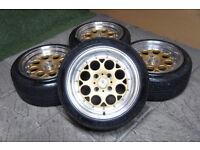 """Genuine Stuttgart ST6 15"""" Alloy wheels 4x108 Ford Fiesta Peugeot Citroen Gold Alloys"""