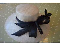 M&S Ladies cream/black hat - worn once