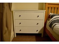 Chest of 3 drawers Ikea Hemnes range, white stain, RRP £100
