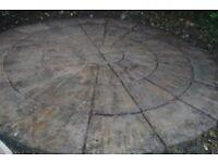 Paving Circle: 52 slabs to form a circle 3.3m diameter