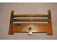 "Brass magnetic fire surround and 16"" BAUHAUS (Bowed) Gas Fire Fret"