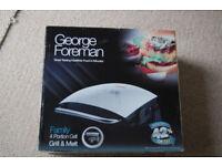 George Foreman BNIB 4 portion grill in silver HP7