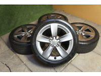 "Genuine Audi A3 17"" Alloy wheels 5x112 Grey VW Golf MK5 Jetta Caddy Alloys"
