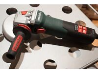 """Metabo WE15-125 Quick 110v 5"""" Fixed Speed Angle Grinder (Plus New 16 Amp Lead)"""