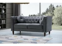 Bedroom Furniture -Plush Velvet Florence Sofa- 3+2 Seater Set-In Grey Colors Only-Call Now