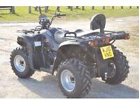 2016 KAZUMA JAGUAR 500CC 4x4 ROAD LEGAL FARM QUAD BIKE IN BLACK 16 PLATE IMMACULATE CONDITION