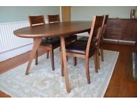 Walnut dining table and chairs - Nick Munro for John Lewis RRP £1500