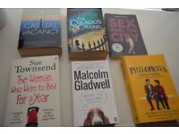 Books - The casual vacancy - The Cuckoos calling - Sex and the city - Philomena -Sue Townsend