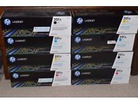 New HP colour toner cartridges (x4)