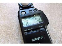 Minolta Auto Flash Meter IV F light meter. Perfect, barely used condition.