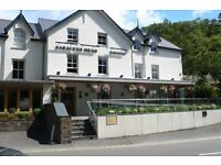 Head and Sous Chefs - Country pub, Beddgelert. Permanent, full-time. Immediate start.