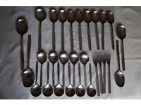Viners 'Chelsea' & 'Unknown 3' Stainless Cutlery, See Photos, All in V G to Excellent Condition.