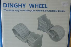 INFLATABLE DINGHY TRANSOM WHEELS COMPACT RETRACTABLE