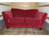 fabric sofa / 2 seater / purple sofa