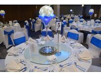 **WEDDING & VENUE DECORATION & CENTREPIECE HIRE Tel:02084234330 or 07904938852 ***