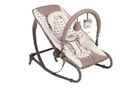 Babymoov Bubble Bouncer in Brown/Red.