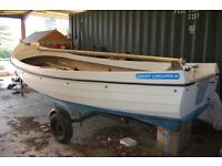 16ft Orkney Longliner on trailer. In very good condition and stored under cover in barn.