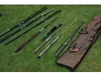 Fishing Rods.. Bundle and Bag. SEE DETAILS...'Normark' 'Red Wolf' etc
