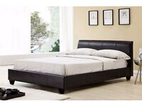 4ft6 Double Galaxy Brown Bed - Reduced to Clear Was £150.00 Now £100.00