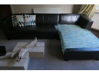 Sofa dark brown, Corner or 3 plus 2 seater