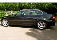 Black BMW 320 SE Auto. Leather. Very good condition