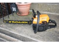 McCulloch California petrol Chainsaw Excellent condition