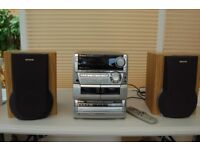 AIWA CX-NS999 Compact Disc, Stereo Cassette, Receiver and matching SX-WNH999 Speakers