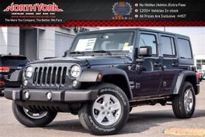 2017 Jeep WRANGLER UNLIMITED New Car Sport S |4x4|PwrConvi,Conne