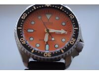 Seiko Scuba Diver's automatic mechanical wristwatch - Japan - '97 - 7S26-0020- Orange dial