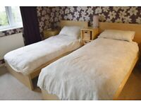 Matching pair of Ikea single beds hardly used (space required)