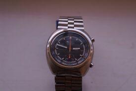 Seiko automatic mechanical chronograph wristwatch Circa 1971 - Japan - 6139-7002- Orange seconds
