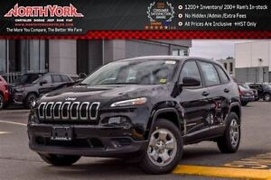 2017 Jeep Cherokee NEW Car Sport|4x4|Cold Wthr Pkg|RearCam|Bluet