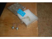 Handmade silver bracelet by Lena Pringle & drop earrings designer unknown, never worn