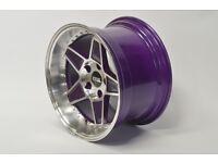 "FYK ED3 17"" alloy wheels 4x100 Pcd VW GOLF MK1 MK2 MK3 BMW E30 Honda drift xxr bbs rs rota DEEP DISH"