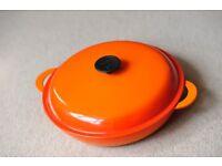 Le Creuset Cast Iron Shallow Casserole Dish 30cm, Volcanic Orange - A Classic!